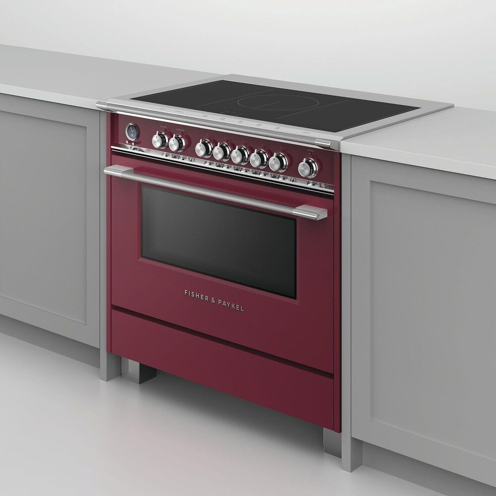 "Fisher and Paykel 36"" Classic Induction Range with 5 Burners in Red, , large"