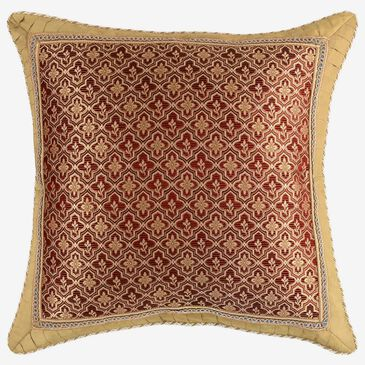 Croscill Home Arden European Sham in Red, Sand, Gold and Teal, , large