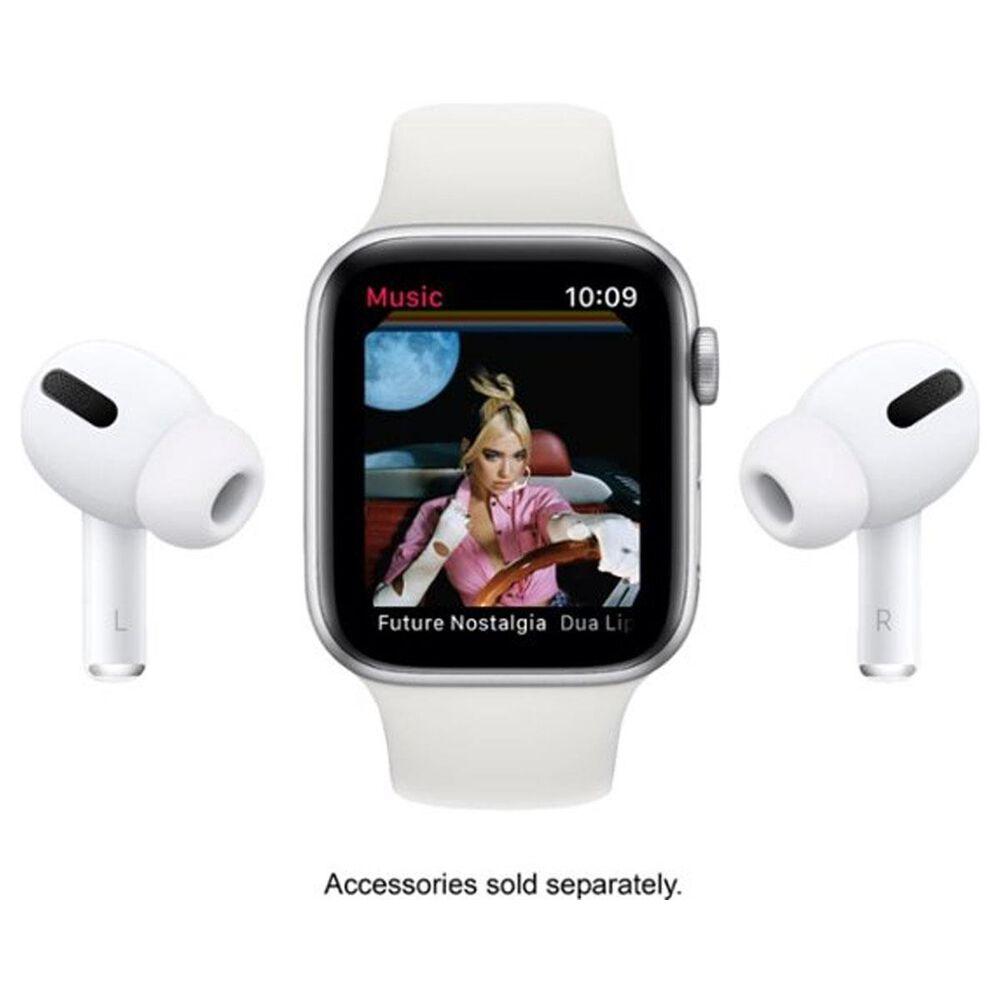 Apple Watch Nike SE GPS + Cellular, 44mm Silver Aluminum Case with Pure Platinum/Black Nike Sport Band - Regular, , large