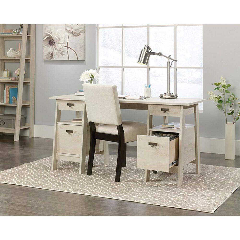 Sauder Trestle Executive Desk in Chalked Chestnut, , large
