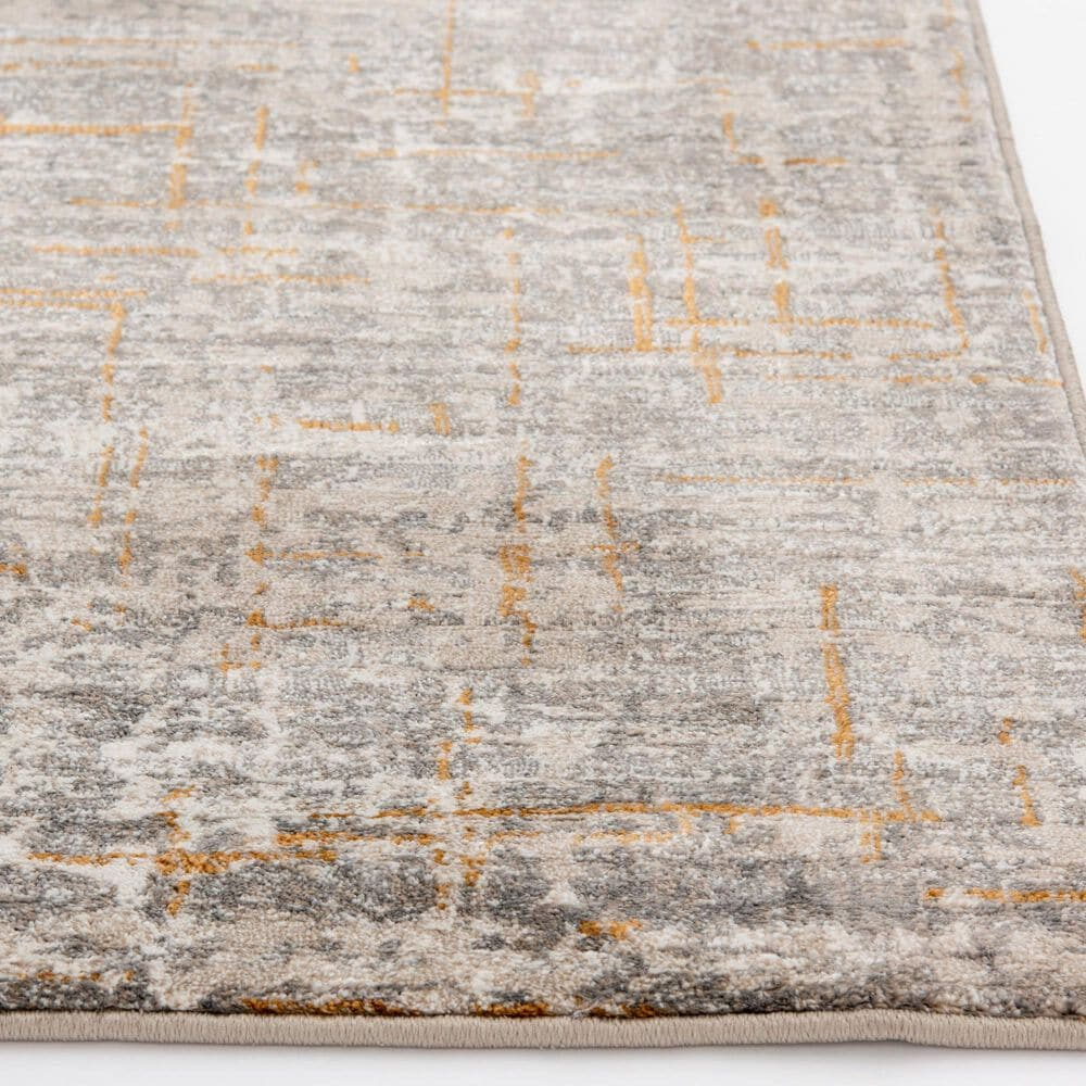 Central Oriental Adore Adrian 9274CEG 5' x 8' Cement and Greige Area Rug, , large