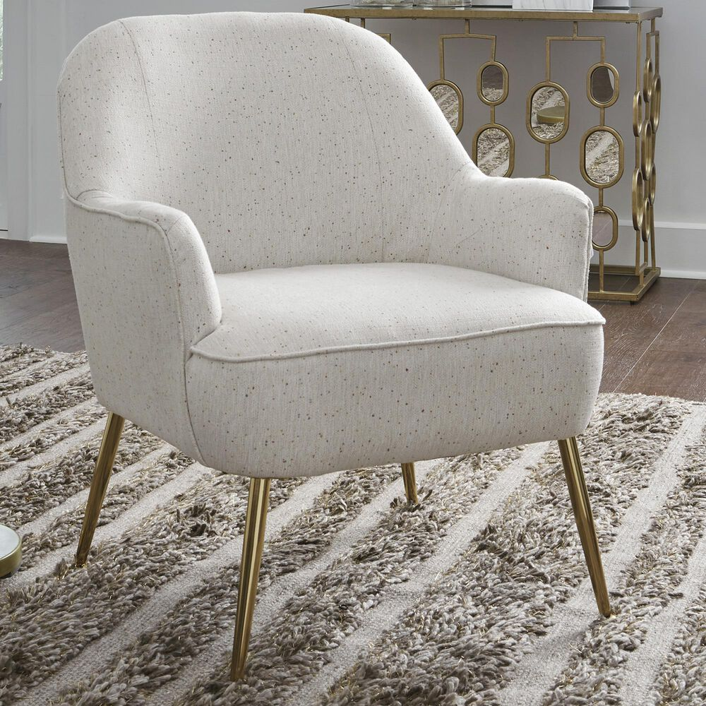 Signature Design by Ashley Genessee Accent Chair in Beige and Multi Color Speckled, , large