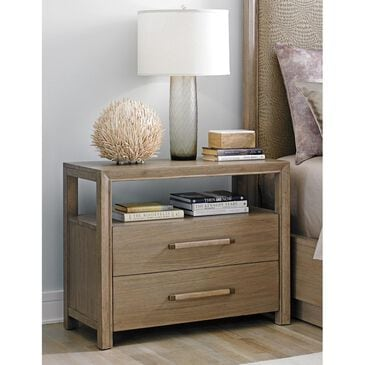 Lexington Furniture Shadow Play Curtain Call Open Nightstand in Taupe Gray, , large