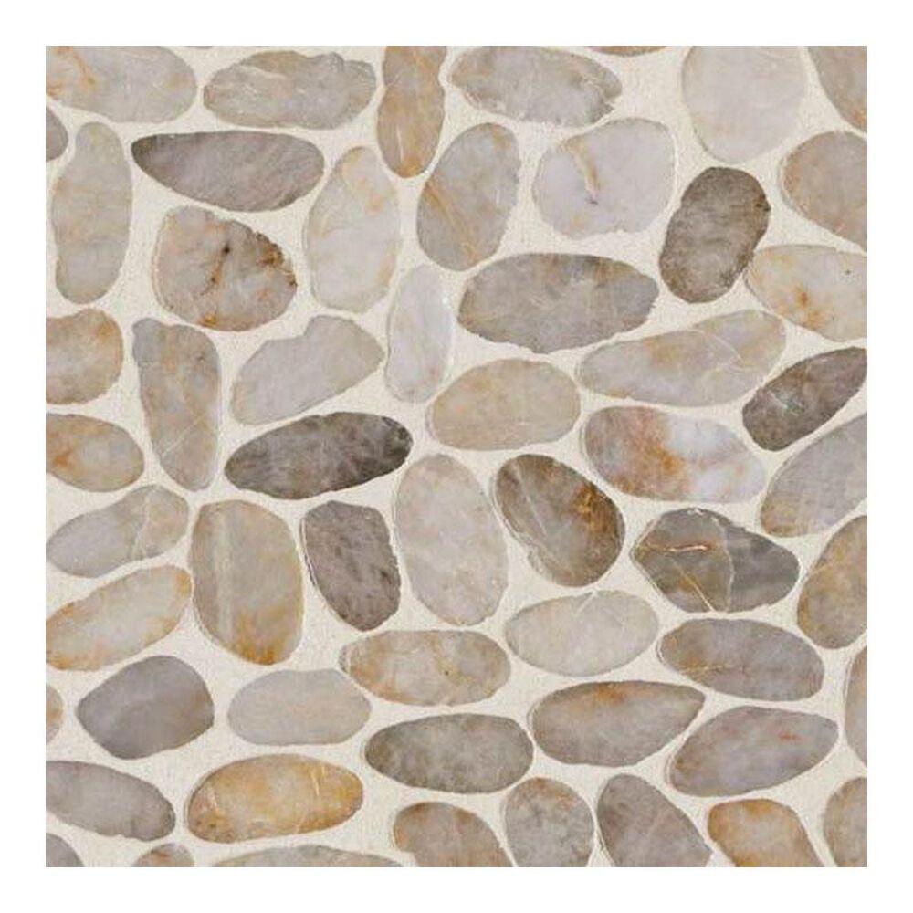 "Dal-Tile Stone Mosaics Creamy Sand 12"" x 12"" Porcelain Mosaic Sheet, , large"