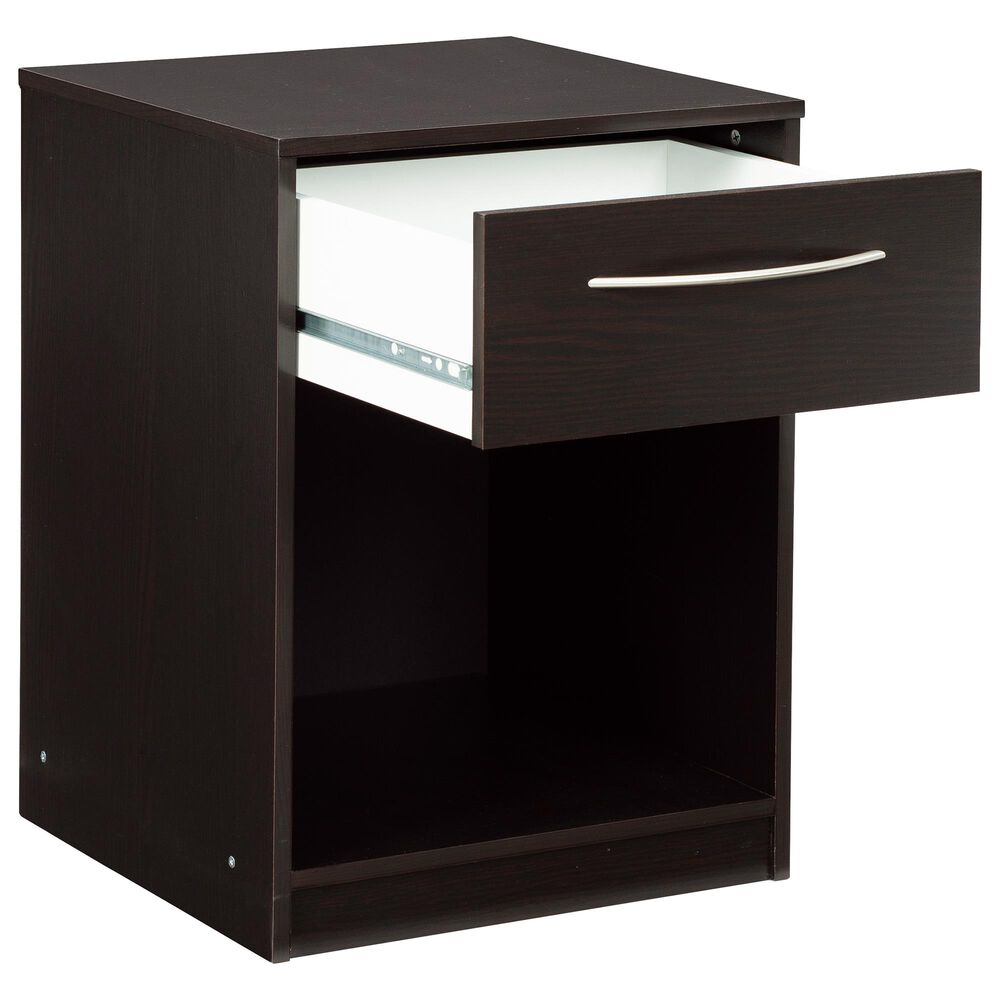 Signature Design by Ashley Flannia 1 Drawer Nightstand in Black, , large