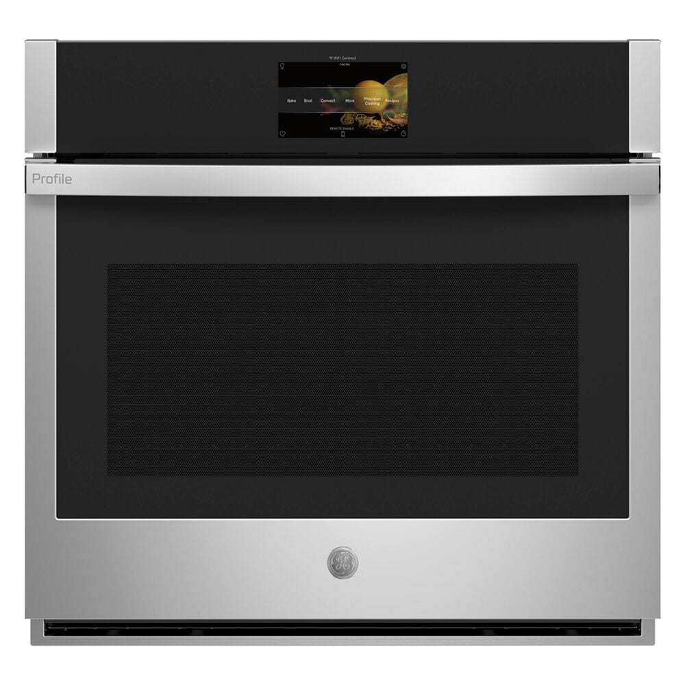 """GE Profile 5.0 Cu. Ft. Smart Built-In Convection Single Wall Oven and 30"""" Built-In Touch Control Induction Cooktop in Black, , large"""