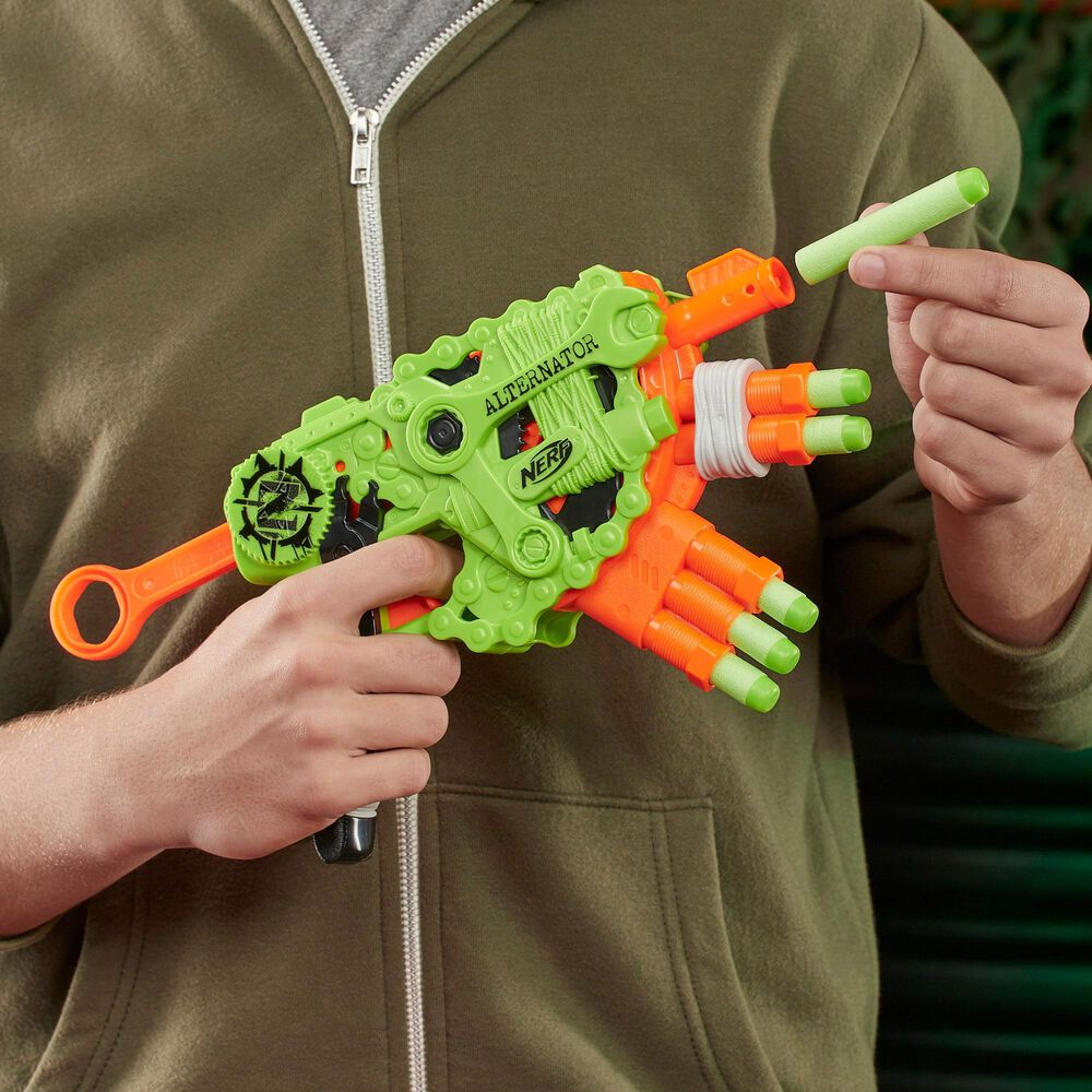 Nerf Zombie Strike Alternator Blaster 12 Darts, , large