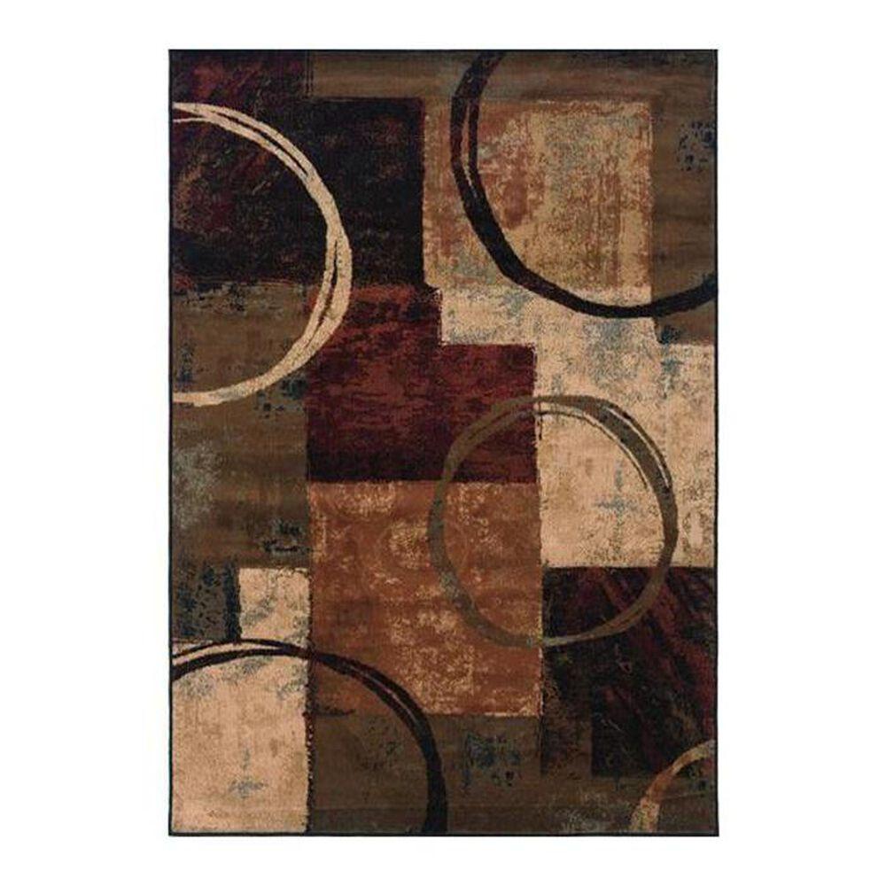 """Oriental Weavers Hudson 2544B 6""""7"""" x 9""""6"""" Brown Area Rug, , large"""