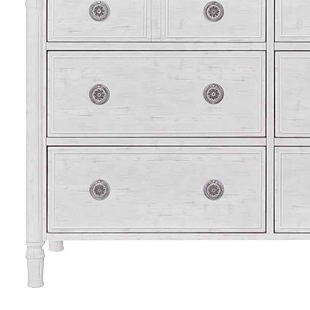Evolur Julienne Double Dresser in Brush White and Toffee, , large