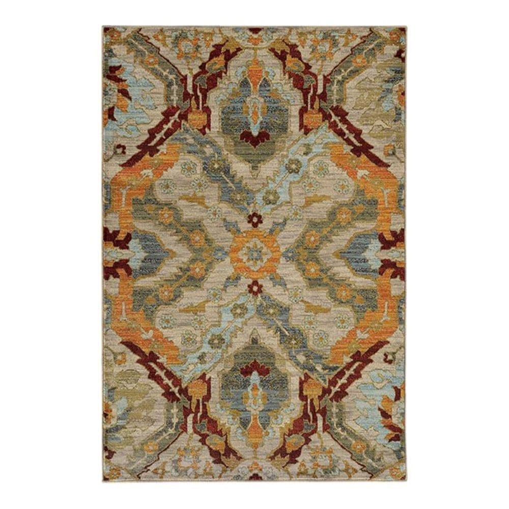 "Oriental Weavers Sedona 6357A 1'10"" x 3' Brown Scatter Rug, , large"