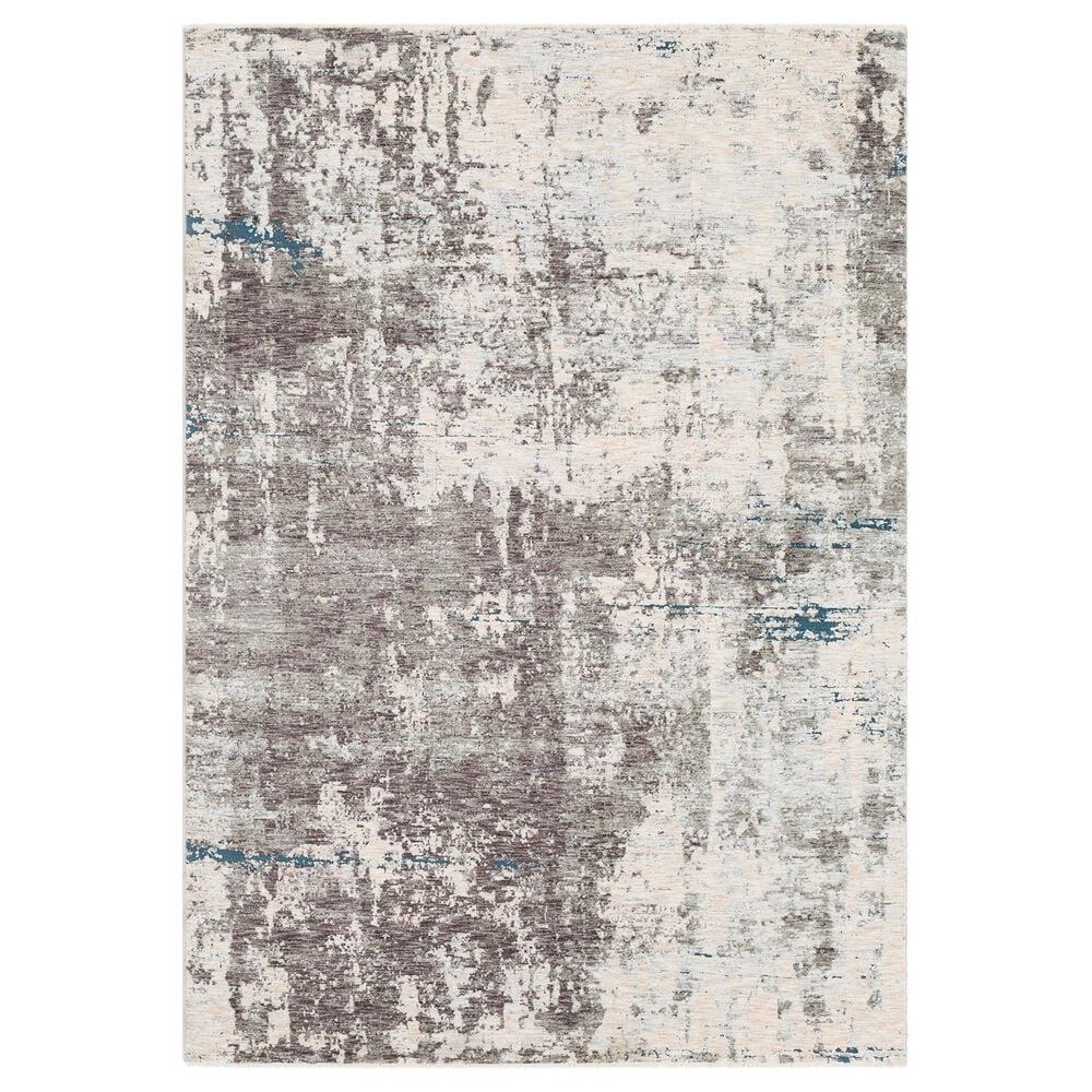 """Surya Presidential PDT-2301 5"""" x 8"""" Blue, Gray and Orange Area Rug, , large"""