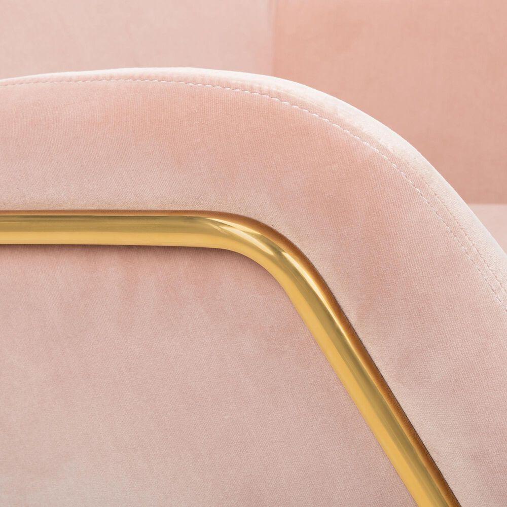 Safavieh Misty Accent Chair in Blush Velvet, , large