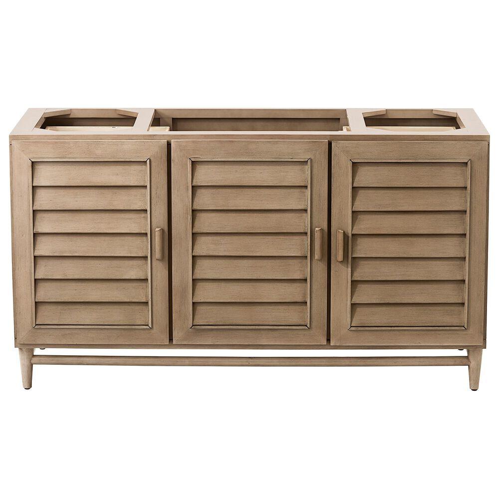 "James Martin Portland 60"" Single Vanity Cabinet in White Washed Walnut, , large"