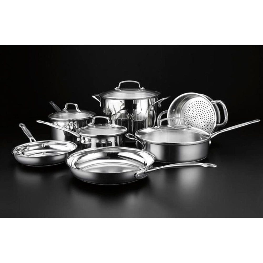 Cuisinart 11 Piece Classic Cookware Set in Stainless Steel , , large