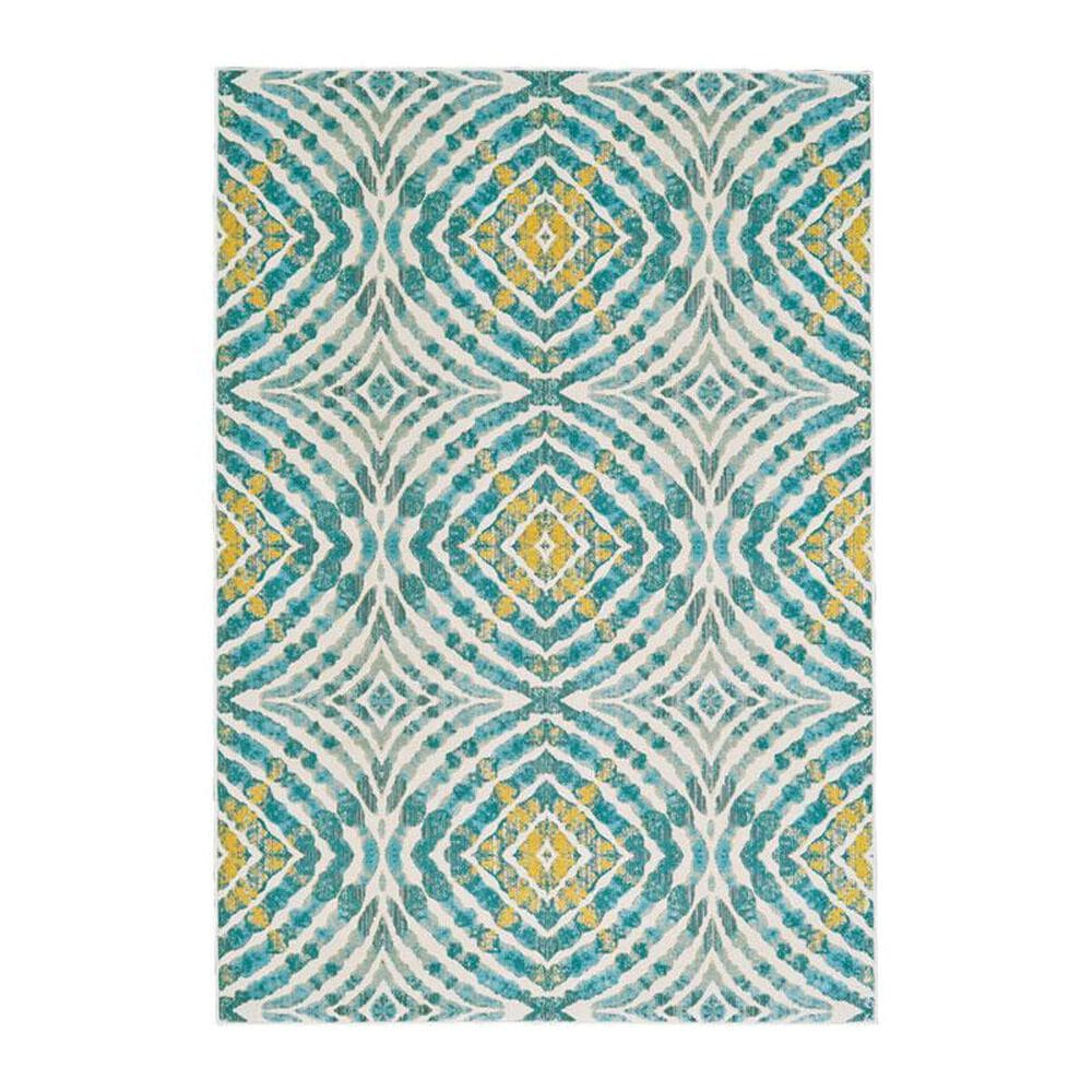 """Feizy Rugs Keats 3469F 2'2"""" x 4' Teal Area Rug, , large"""