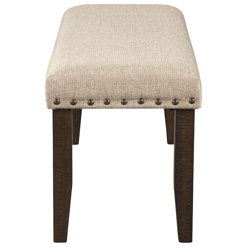 Signature Design by Ashley Rokane Large Upholstered Bench in Light Brown, , large