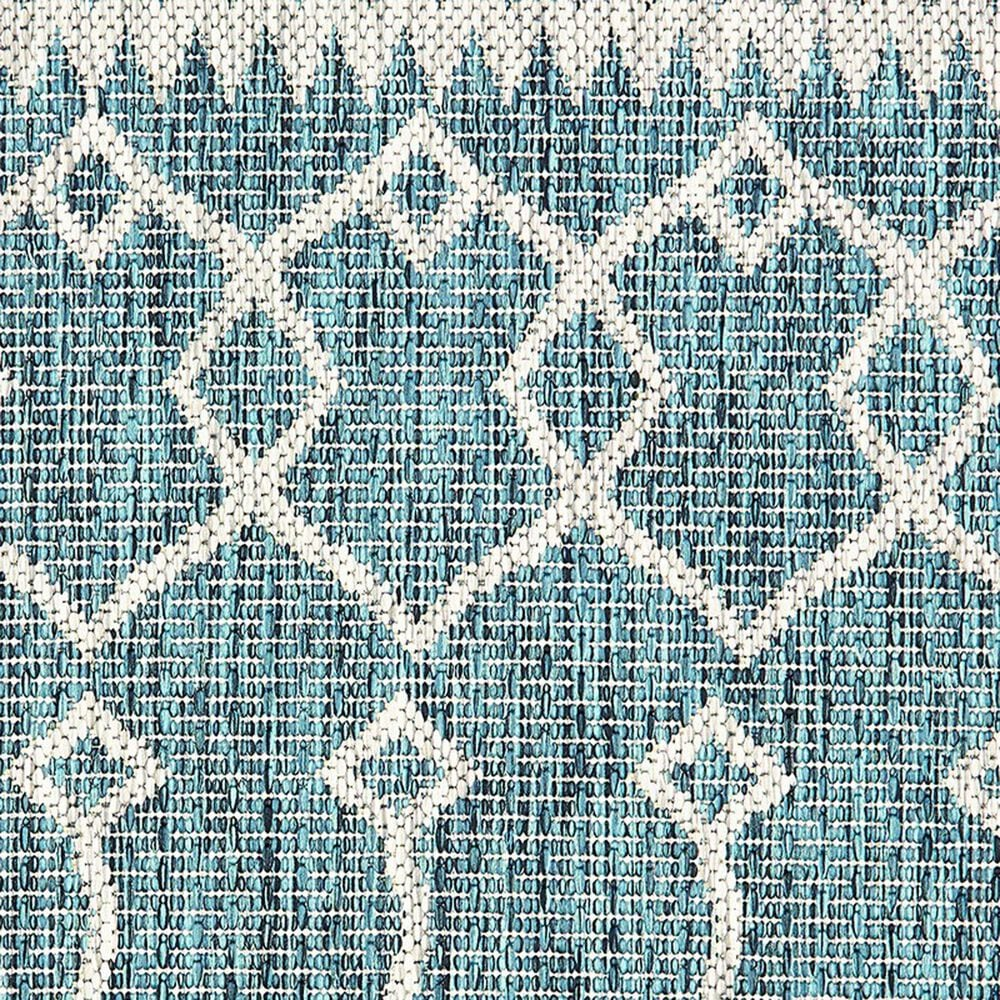 """L&R Resources Sun Shower 1'10"""" x 3' Blue and Gray Indoor/Outdoor Area Rug, , large"""