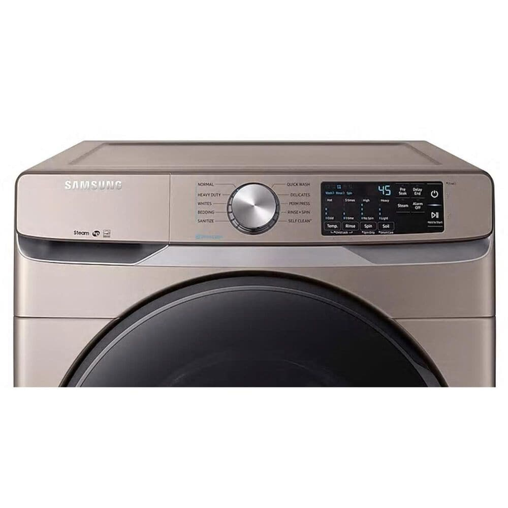 Samsung 4.5 Cu. Ft. Front Load Washer with Steam in Champagne , , large