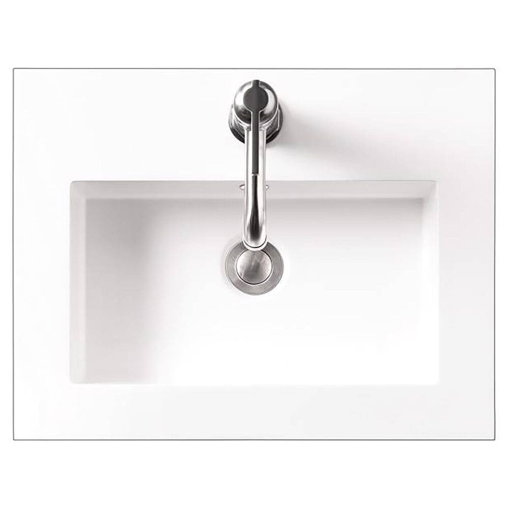 """James Martin 20"""" Single Sink Countertop in White Glossy, , large"""