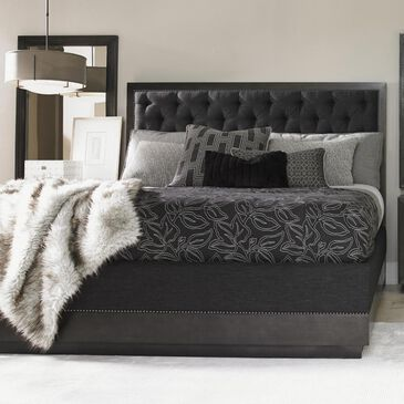 Lexington Furniture Carrera Maranello Upholstered King Bed in Grey, , large