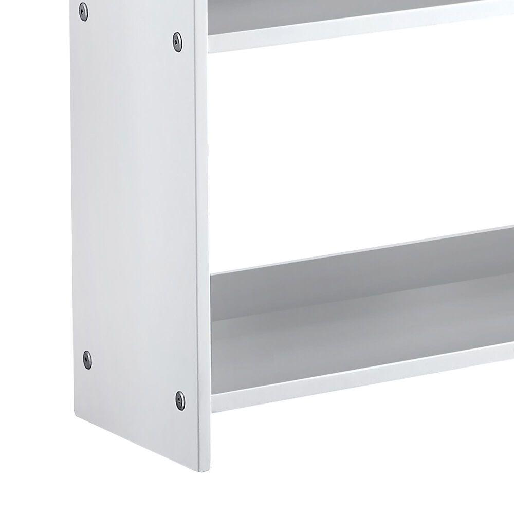Furniture of America Yates Small Bookshelf in White, , large