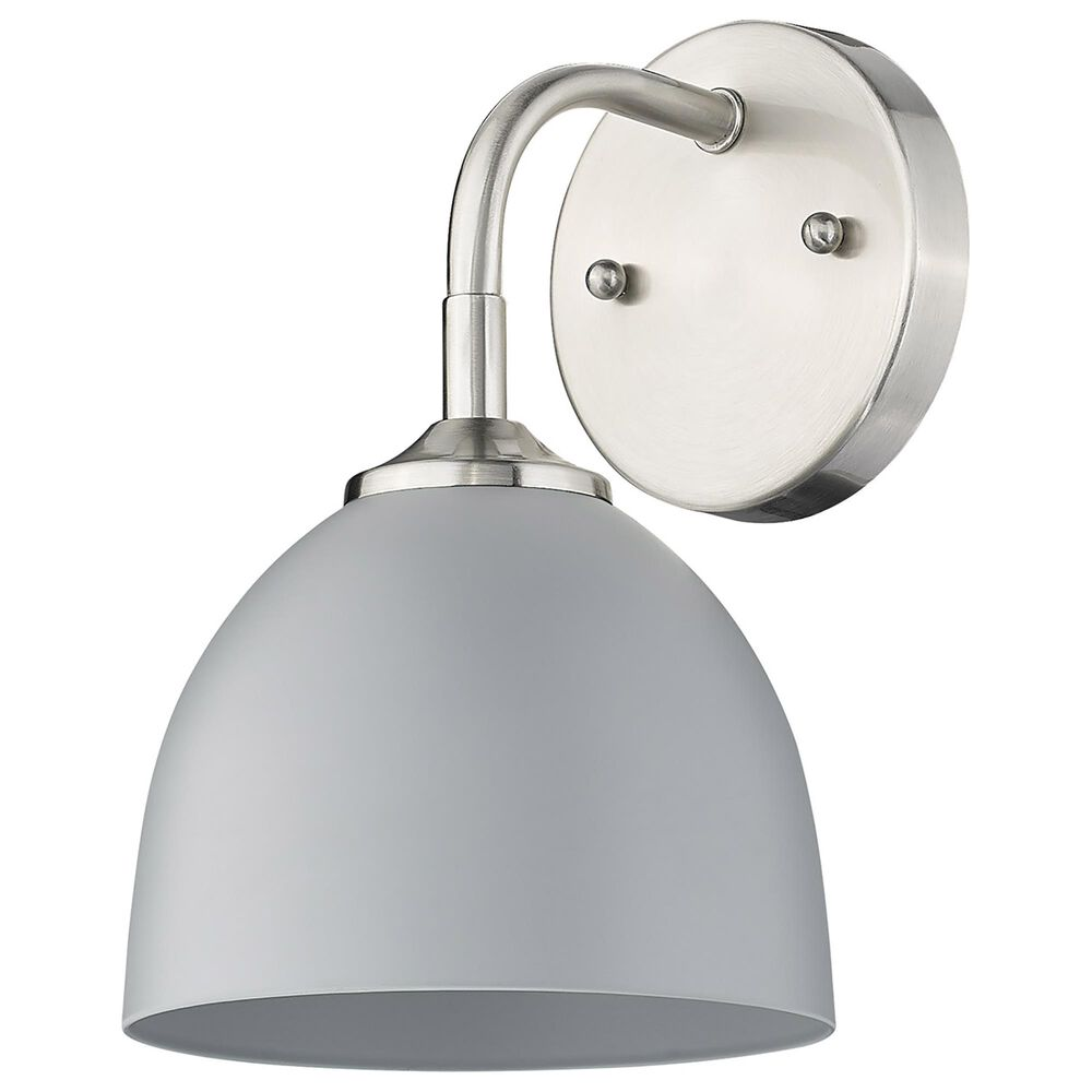 Golden Lighting Zoey 1-Light Wall Sconce in Pewter and Gray, , large