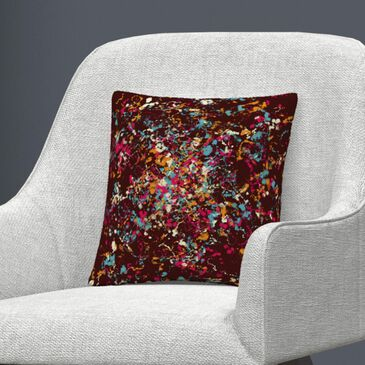 """Timberlake Speckled Colorful Splatter Abstract 3 By ABC 16"""" Decorative Throw Pillow, Red, large"""