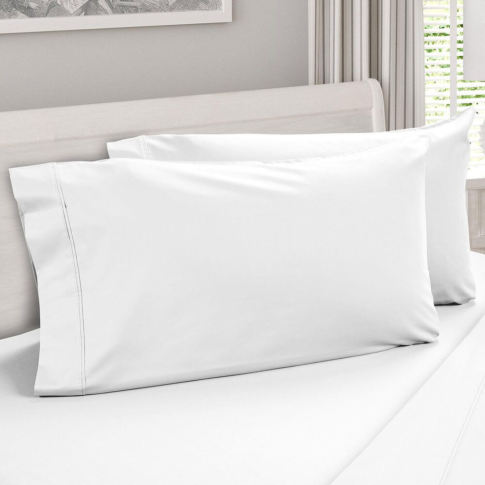 DreamFit DreamCool Degree 4 2-Piece Egyptian Cotton Standard Pillowcases in Snowflake, , large