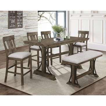 Claremont Quincy 6-Piece Counter Height Dining Set in Gray, , large