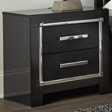 Signature Design by Ashley Kaydell 2-Drawer Night Stand in Black, , large