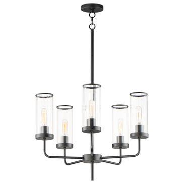Maxim Lighting Crosby 5-Light Chandelier in Black, , large