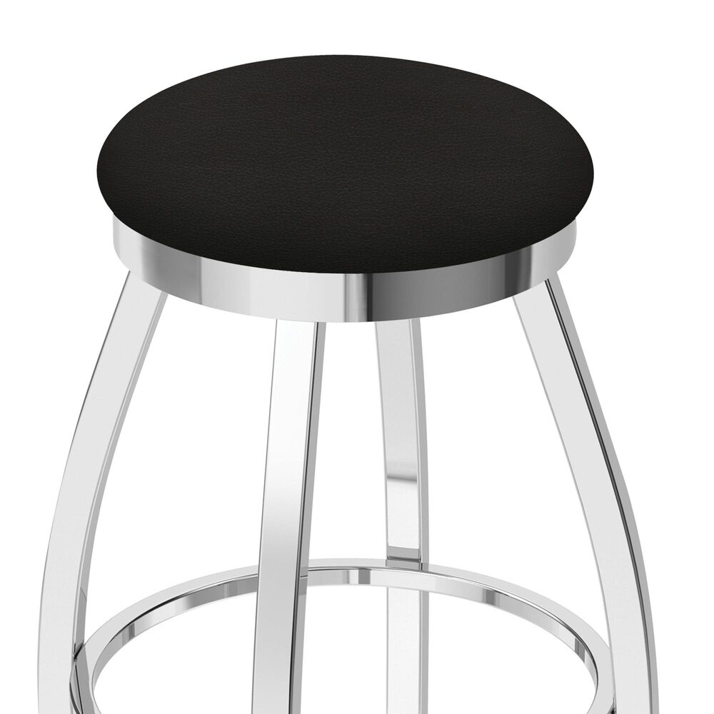 """Holland Bar Stool 802 Misha 25"""" Swivel Counter Stool with Chrome and Canter Espresso Seat, , large"""