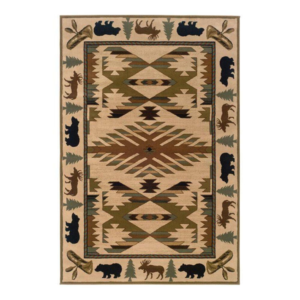 "Oriental Weavers Hudson 1072A 7'8"" x 10'7"" Ivory Area Rug, , large"