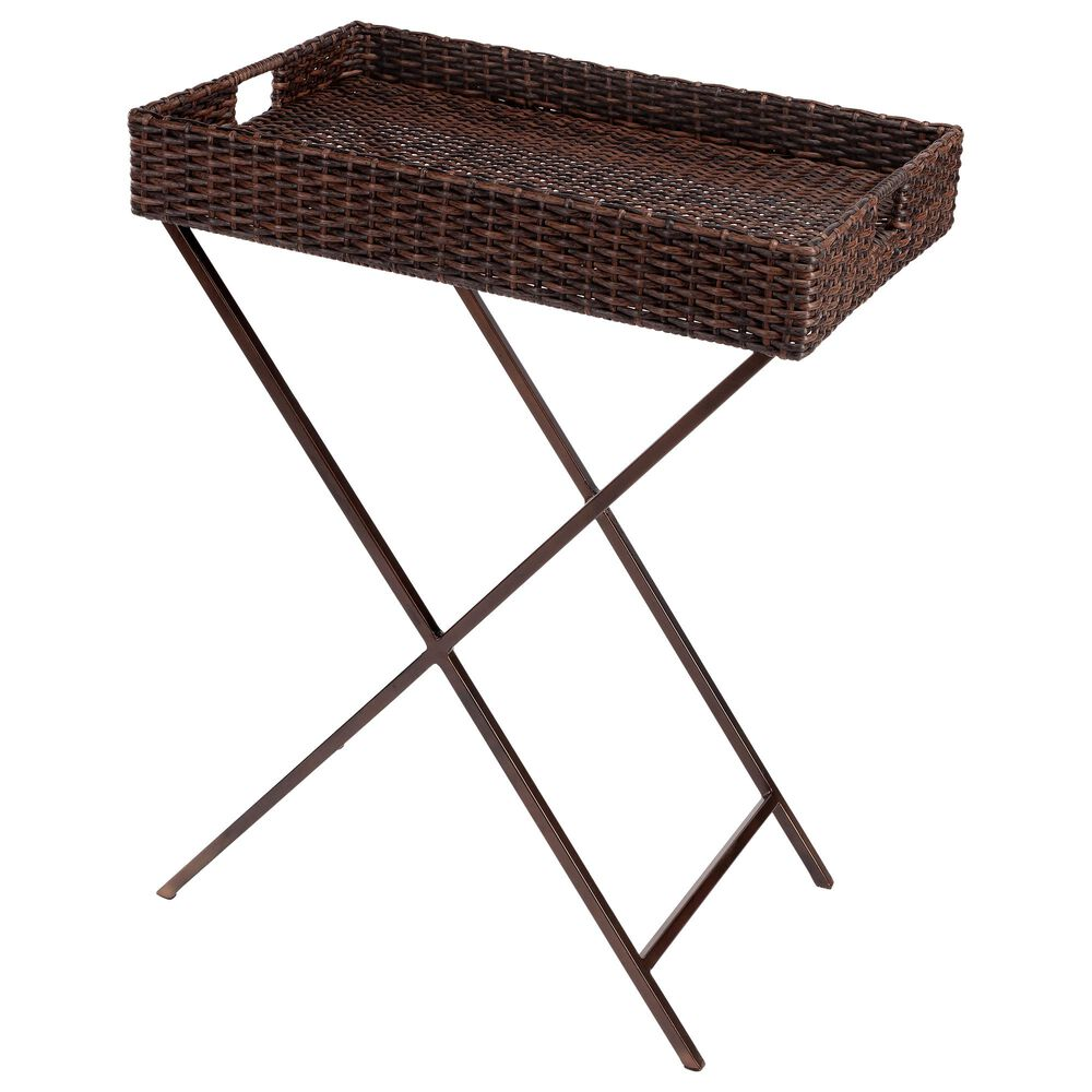 Butler Fern Tray Table in Dark Brown, , large