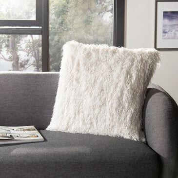 "Safavieh Shag 20""x20"" Pillow in Metallic Snow, , large"