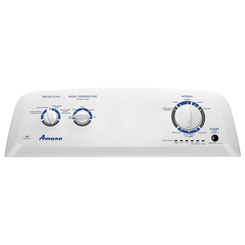 Amana 3.5 Cu. Ft. Top Load Washer with Dual Action Agitator in White, , large