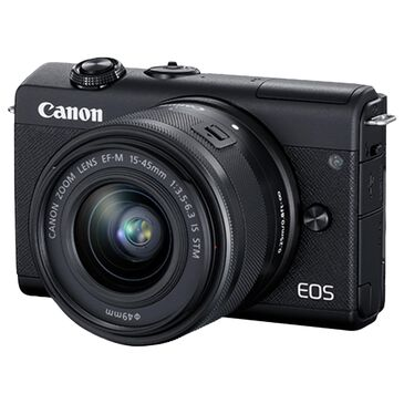 Canon EOS M200 EF-M 15-45mm f/3.5-6.3 IS STM Kit Camera in Black, , large