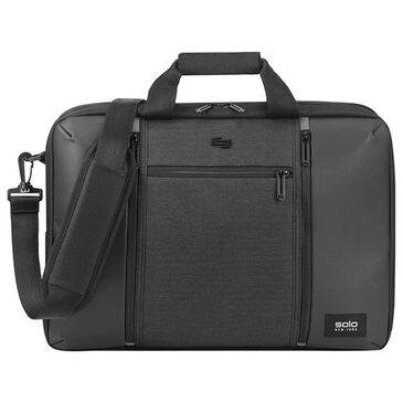 Solo Gravity Highpass Briefcase Backpack in Black, , large