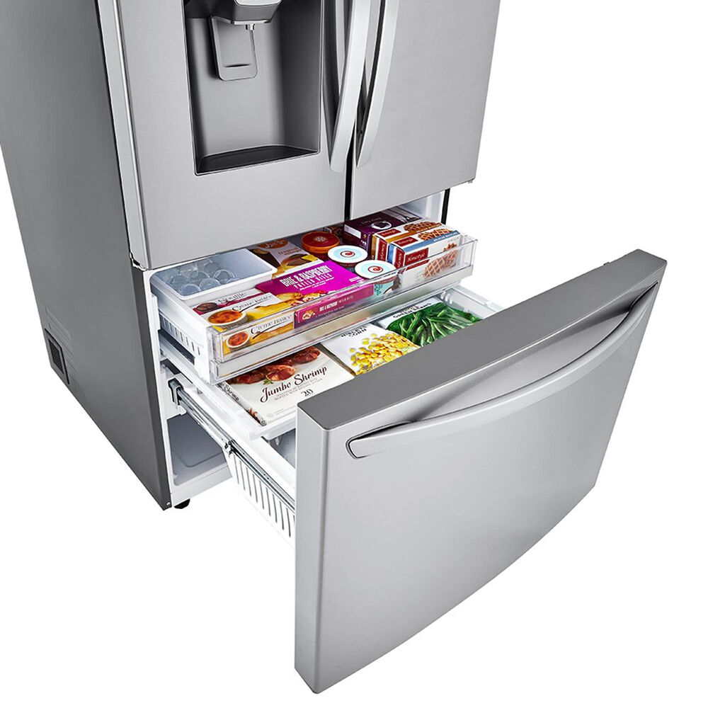 LG 24 Cu. Ft. Counter-Depth French Door Refrigerator with Craft Ice in PrintProof Stainless Steel, , large