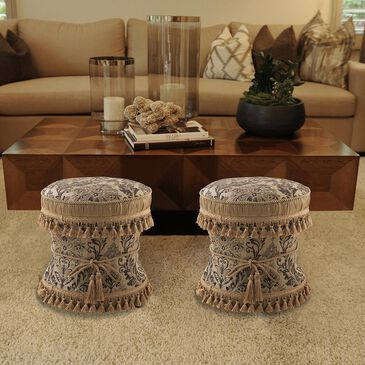 Jennifer Taylor Home Leona Decorative Ottoman Brown, , large