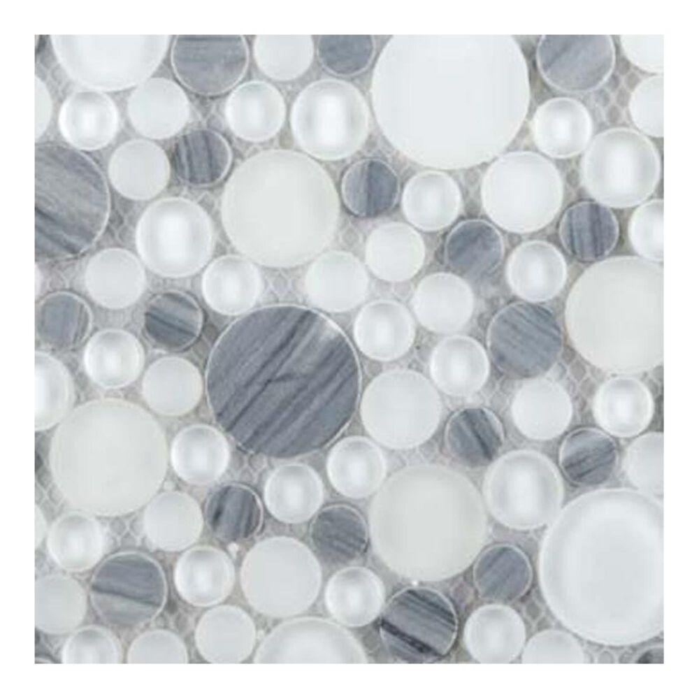"Emser Circle Stone Blend Grazia 12""x12"" Glass Mosaic Sheet, , large"