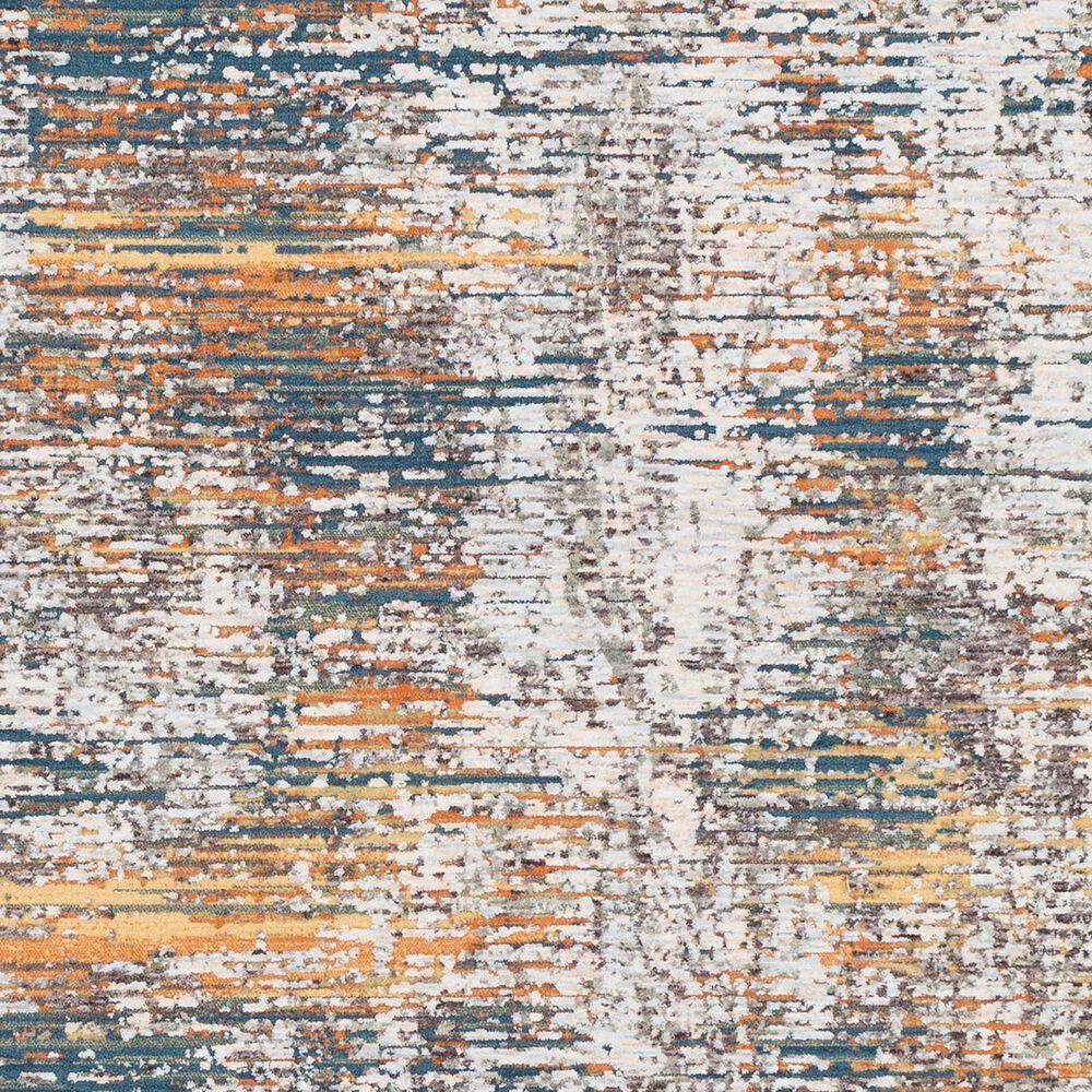 "Surya Presidential PDT-2305 3'3"" x 8' Blue, Gray and Orange Runner, , large"