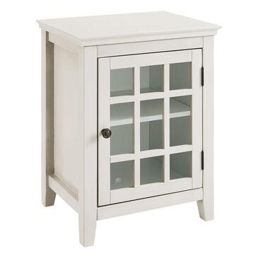 Linden Boulevard Largo Single Door Cabinet in Antique White, , large