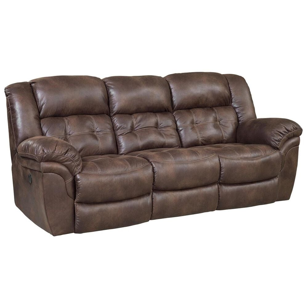 HomeStretch Frontier Double Reclining Sofa in Chocolate, , large