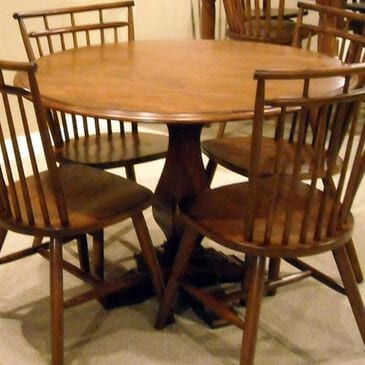 Belle Furnishings Creations II Pedestal Dining Table in Tobacco - Table Only, , large