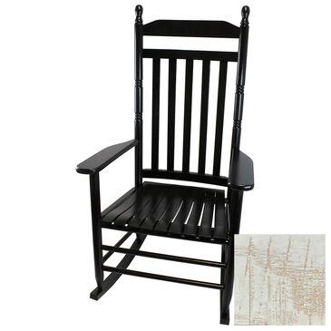 Lakeside Calabash Splat Back Rocking Chair in Woodleaf White, , large