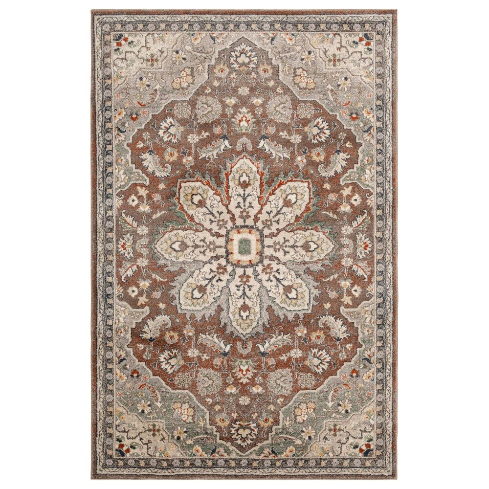 Central Oriental Minerva Corelia 7205LST 8' x 10' Latte and Storm Area Rug, , large
