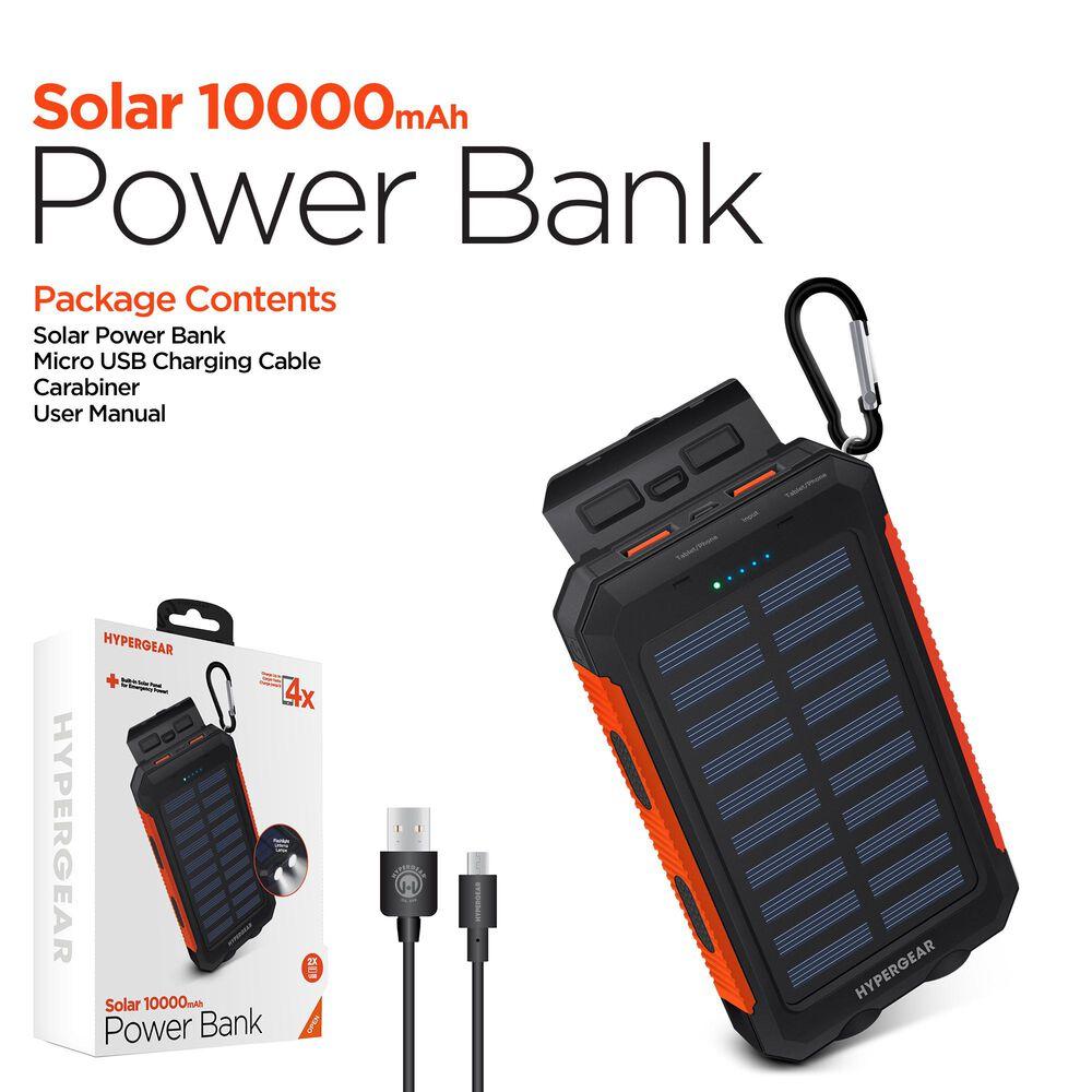 Hypergear 10000 mAh Solar Power Bank, , large