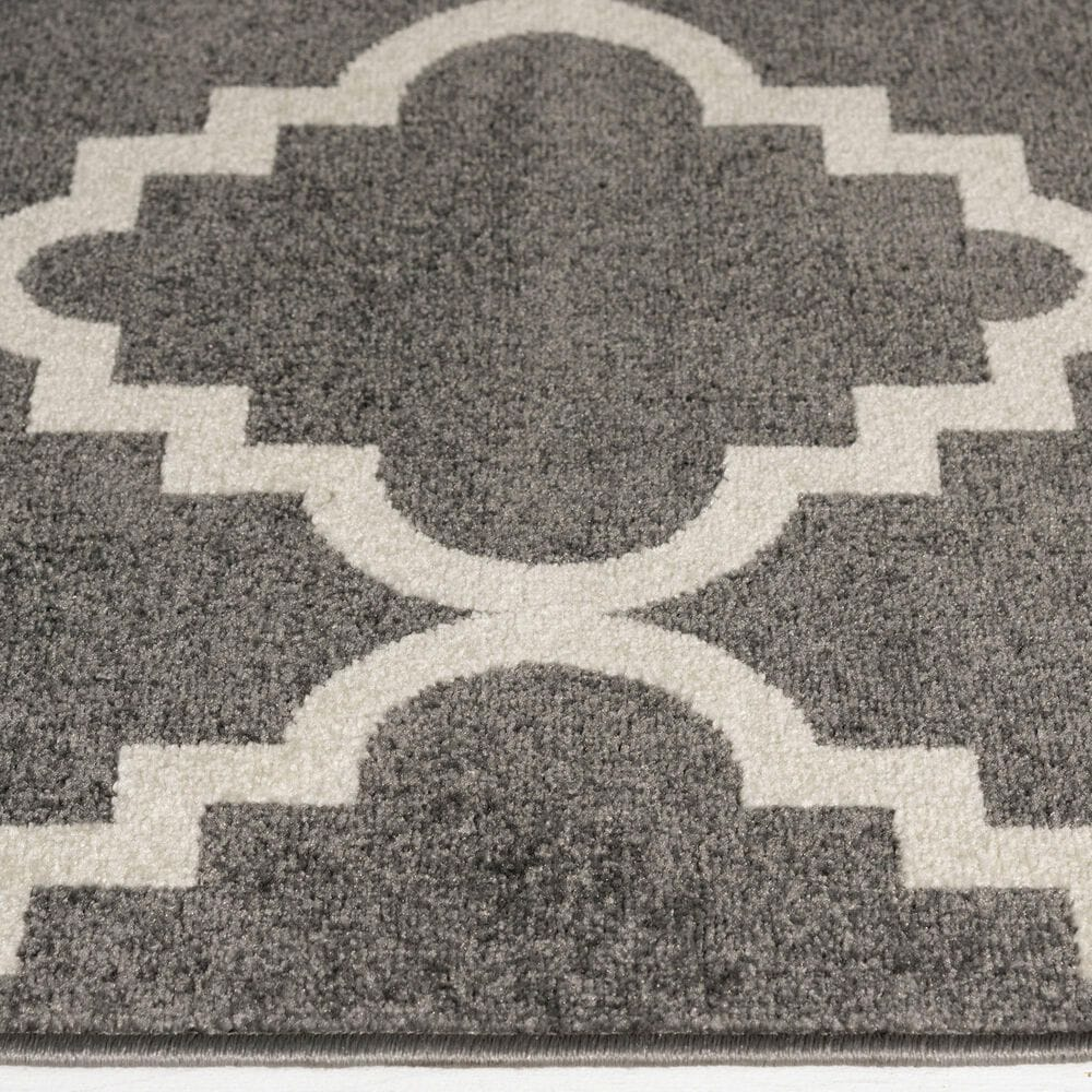 """Central Oriental Terrace Tropic Taza 6'7"""" x 9'6"""" Stone and Snow Area Rug, , large"""