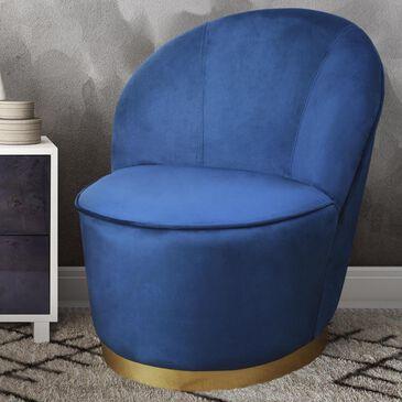 Tov Furniture Julia Velvet Junior Chair in Navy, , large